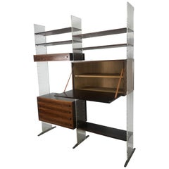 Poul Nørreklit Wall Unit in Plexiglass / Lucite and Rosewood, Denmark, 1960s