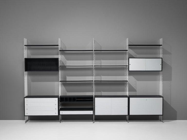 Poul Nørreklit Cabinet in Plexiglas, Aluminum and Black Lacquered Wood For Sale 4
