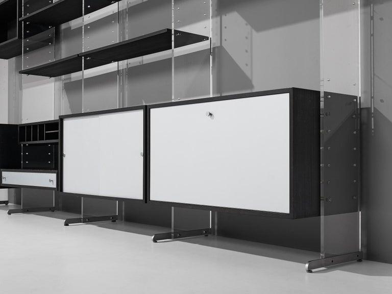 Poul Nørreklit Cabinet in Plexiglas, Aluminum and Black Lacquered Wood For Sale 5