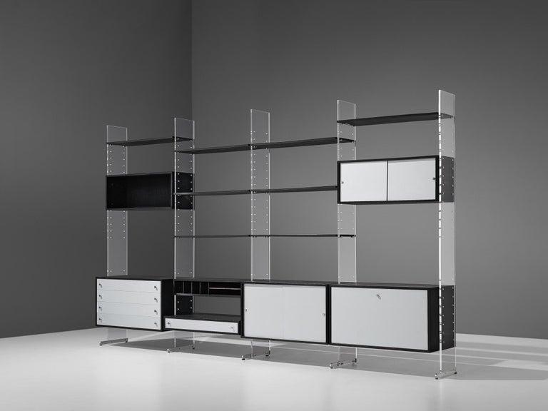 Poul Nørreklit Cabinet in Plexiglas, Aluminum and Black Lacquered Wood For Sale 6