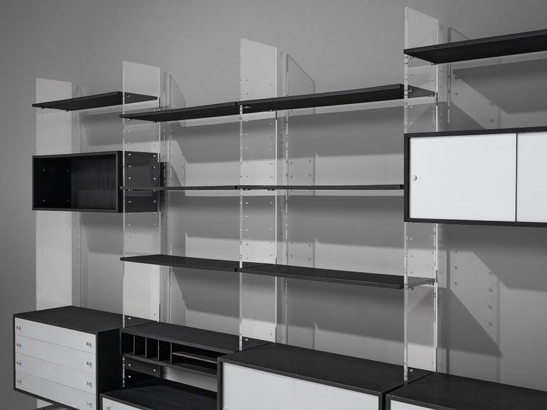 Poul Nørreklit Cabinet in Plexiglas, Aluminum and Black Lacquered Wood For Sale 7
