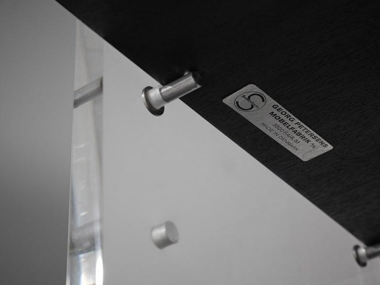 Poul Nørreklit Cabinet in Plexiglas, Aluminum and Black Lacquered Wood For Sale 10