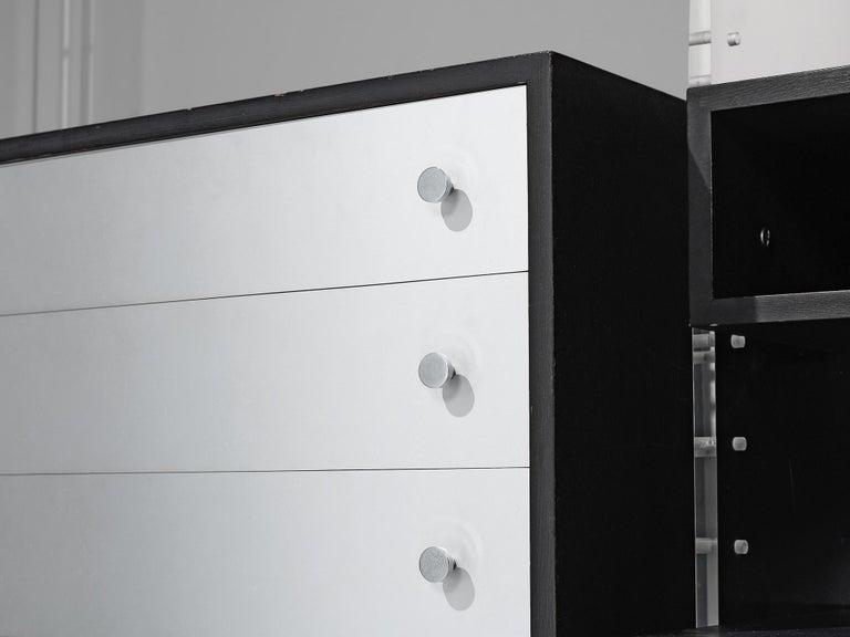 Poul Nørreklit Cabinet in Plexiglas, Aluminum and Black Lacquered Wood For Sale 1