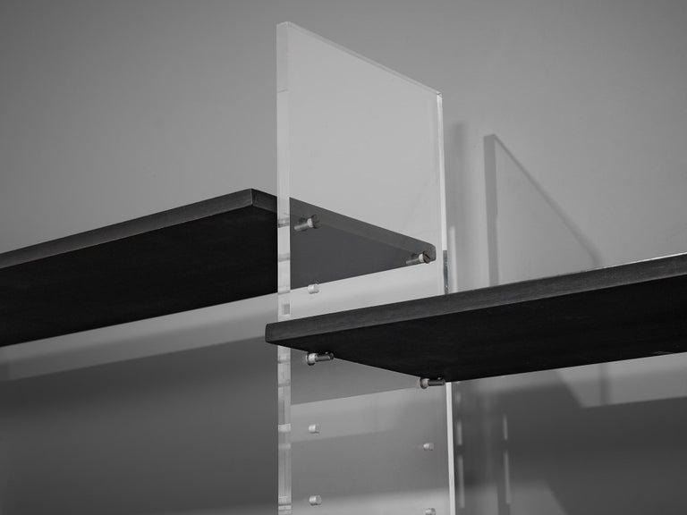 Poul Nørreklit Cabinet in Plexiglas, Aluminum and Black Lacquered Wood For Sale 3