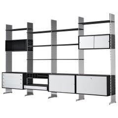 Poul Nørreklit Cabinet in Plexiglas, Aluminum and Black Lacquered Wood
