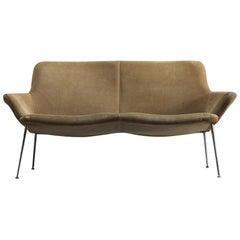 Poul Nørreklit Sand Colored Suede Sofa