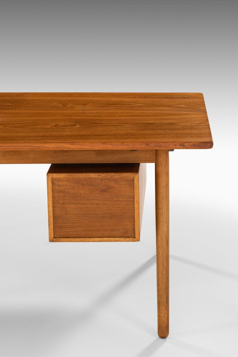 Brass Poul Volther Desk Produced by FDB Møbler in Denmark For Sale