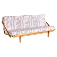 Poul Volther Sofa / Daybed in Oak and Pierre Frey Fabric, Gemla, Sweden, 1955