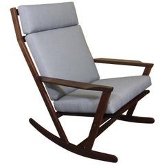 Poul Volther for Frem Rojle 1960s Teak Rocking Chair