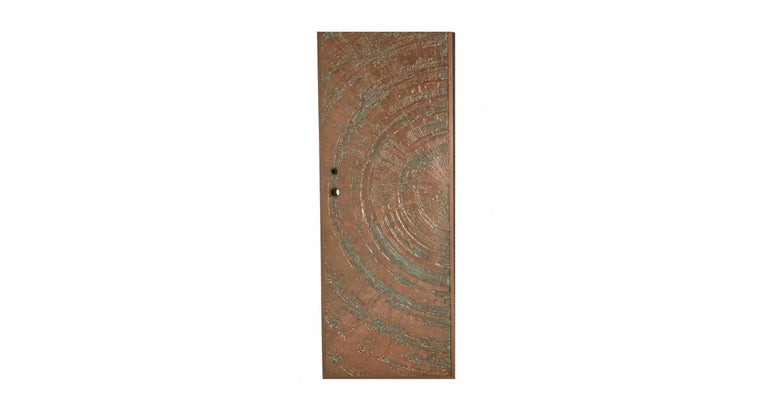 Mid-Century Modern Poured Bronze 'Sunburst' Door by Sherill Broudy for Forms and Surfaces For Sale