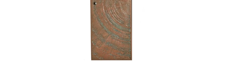 American Poured Bronze 'Sunburst' Door by Sherill Broudy for Forms and Surfaces For Sale