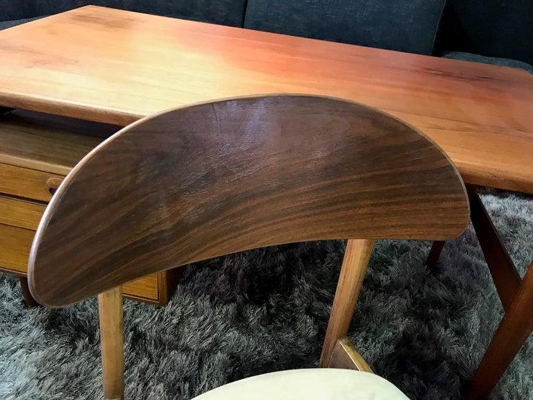Povl Dinesen Midcentury Teak Desk and Chair by Danish Designer Kai Kristiansen For Sale 8