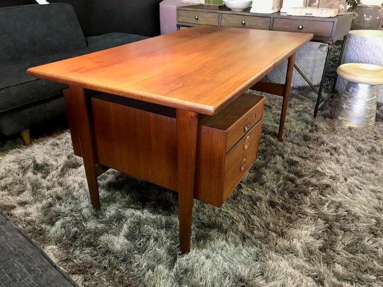 Mid-Century Modern Povl Dinesen Midcentury Teak Desk and Chair by Danish Designer Kai Kristiansen For Sale
