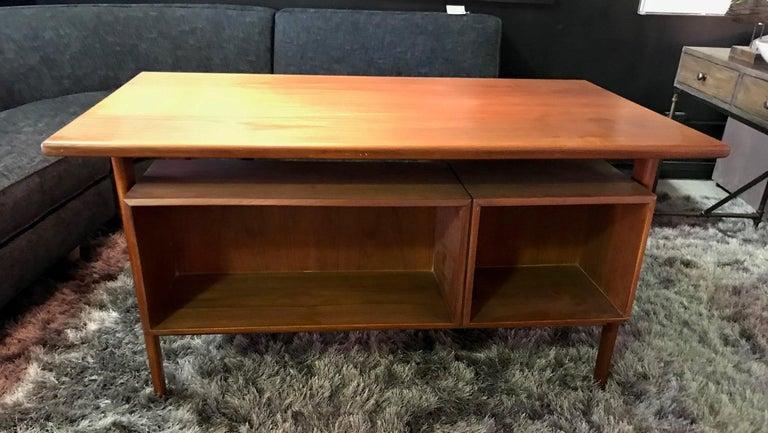 Povl Dinesen Midcentury Teak Desk and Chair by Danish Designer Kai Kristiansen For Sale 1