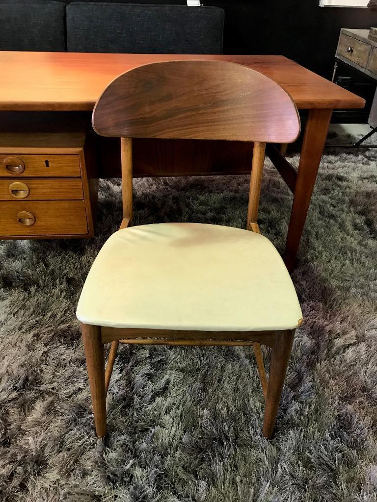 Povl Dinesen Midcentury Teak Desk and Chair by Danish Designer Kai Kristiansen For Sale 4