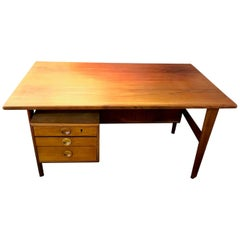 Povl Dinesen Mid-Century Teak Desk and Chair by Danish Designer Kai Kristiansen