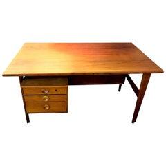 Povl Dinesen Midcentury Teak Desk and Chair by Danish Designer Kai Kristiansen