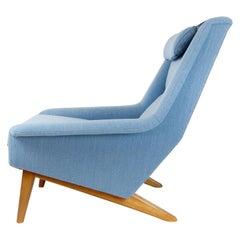 Powder Blue Mid Century Armchair by Folke Ohlsson for Fritz Hansen, Denmark