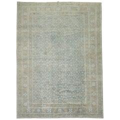 Powder Blue Persian Tabriz Rug