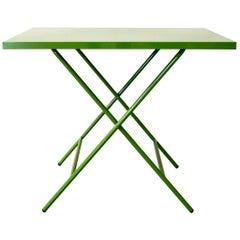 Powder-Coated Folding Table, Fern Green
