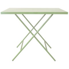 Powder Coated Folding Table, Mint Green