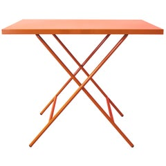 Powder Coated Folding Table, Salmon Pink