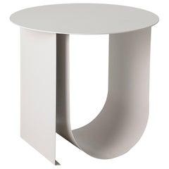 Powder Coated Iron Metal Rounded Base Side Table
