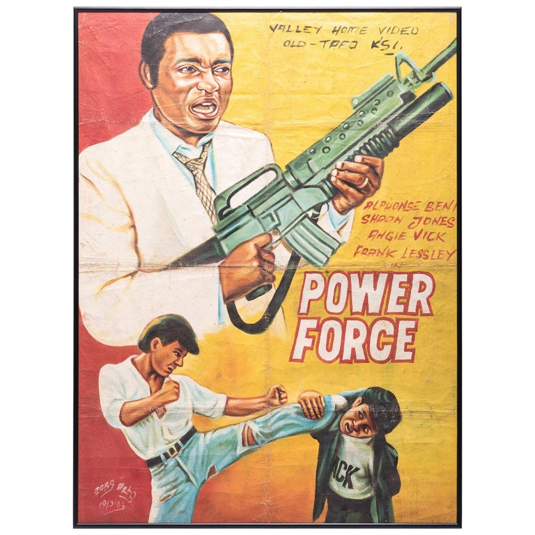 """Power Force"" Ghanaian Movie Poster For Sale"