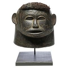 Powerful Scarified Makonde Portrait Helmet Mask Tanzania, Early 20th Century