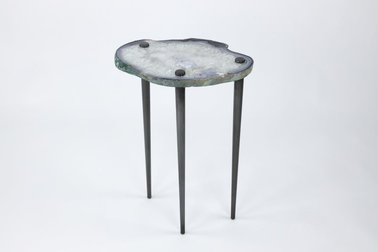 Patinated  'Powers of 10' Cocktail Tables, Set of 2 by Christopher Kreiling For Sale