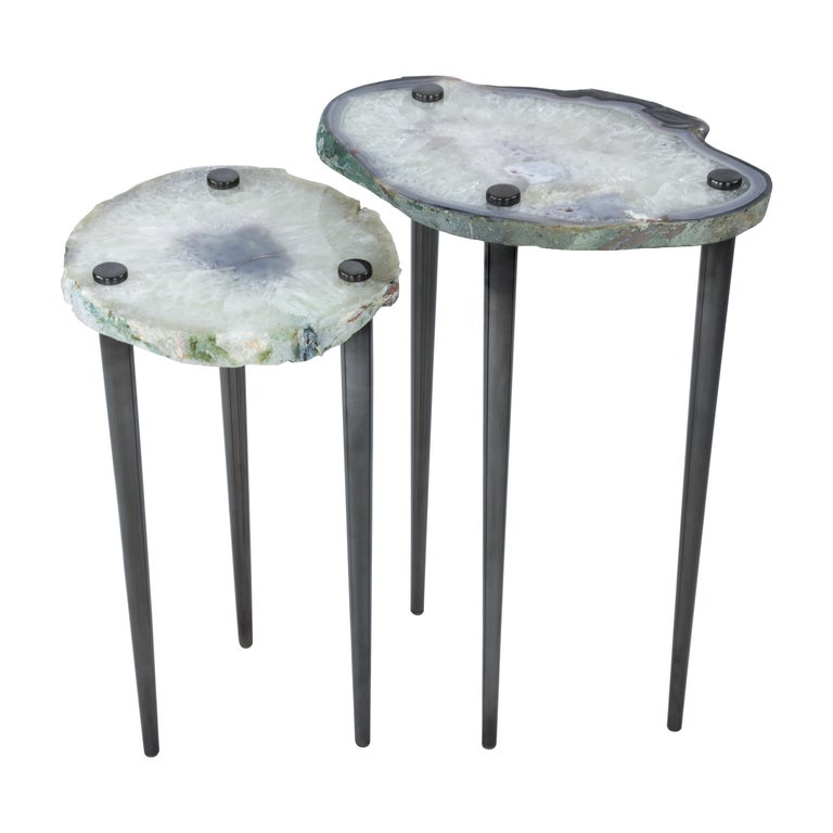 'Powers of 10' Cocktail Tables, Set of 2 by Christopher Kreiling For Sale