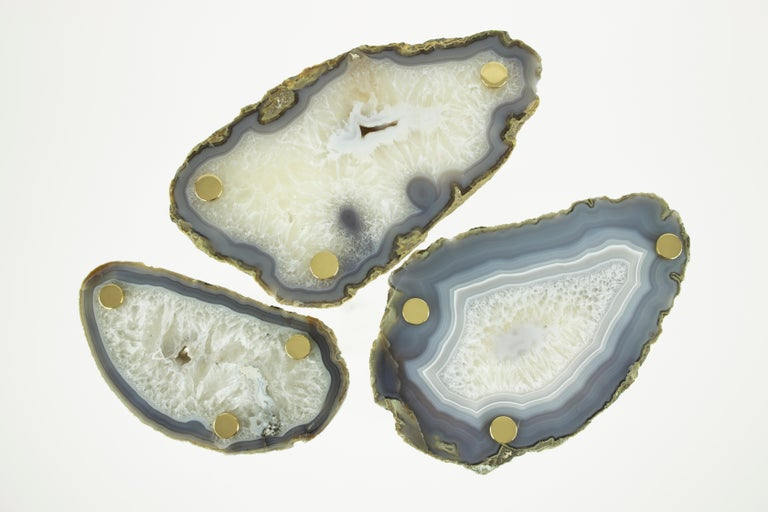 Agate 'Powers of 10' Tables, Set of Three by Christopher Kreiling For Sale