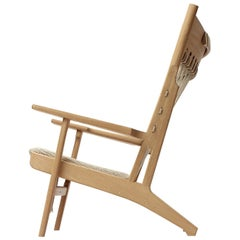 PP129 Web Chair by Hans J. Wegner for PP Møbler in Oak and Fabric