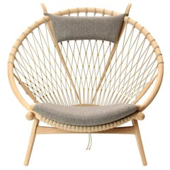 PP130 Circle Chair by Hans J. Wegner for PP Møbler in Oak and Fabric