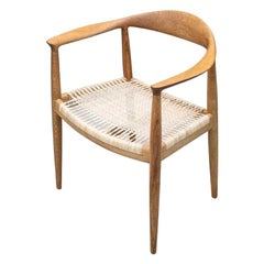 PP501 The Chair in Clear Oak with Cane Seat