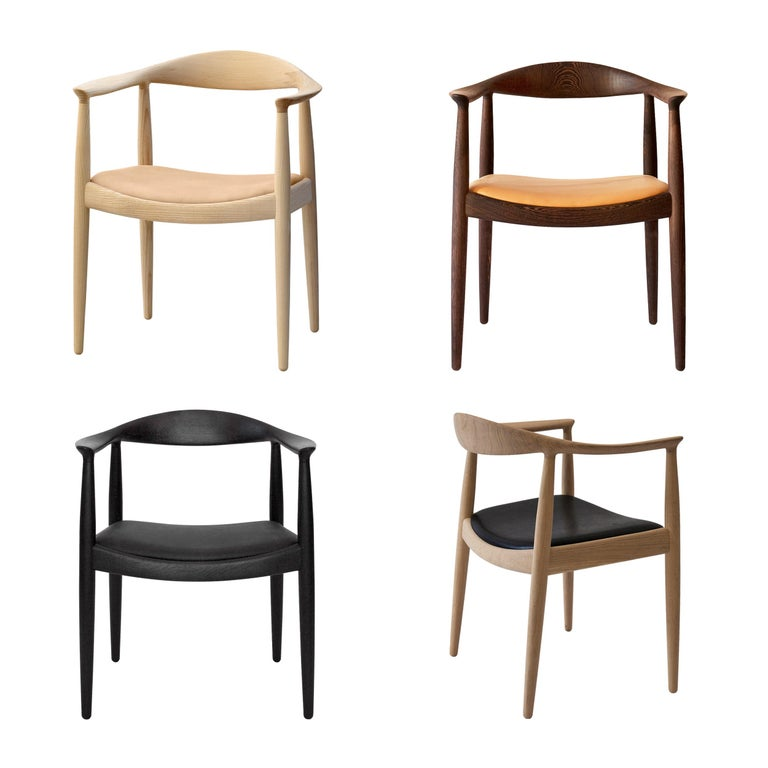 PP503 Round Chair by Hans J. Wegner for PP Møbler in Oak and Natural Leather For Sale 5