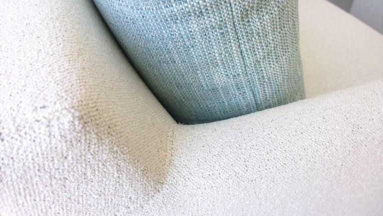 Pr B&B Italia Lounge Chairs w/ Chrome Legs & New White Upholstered Slip Covers For Sale 6