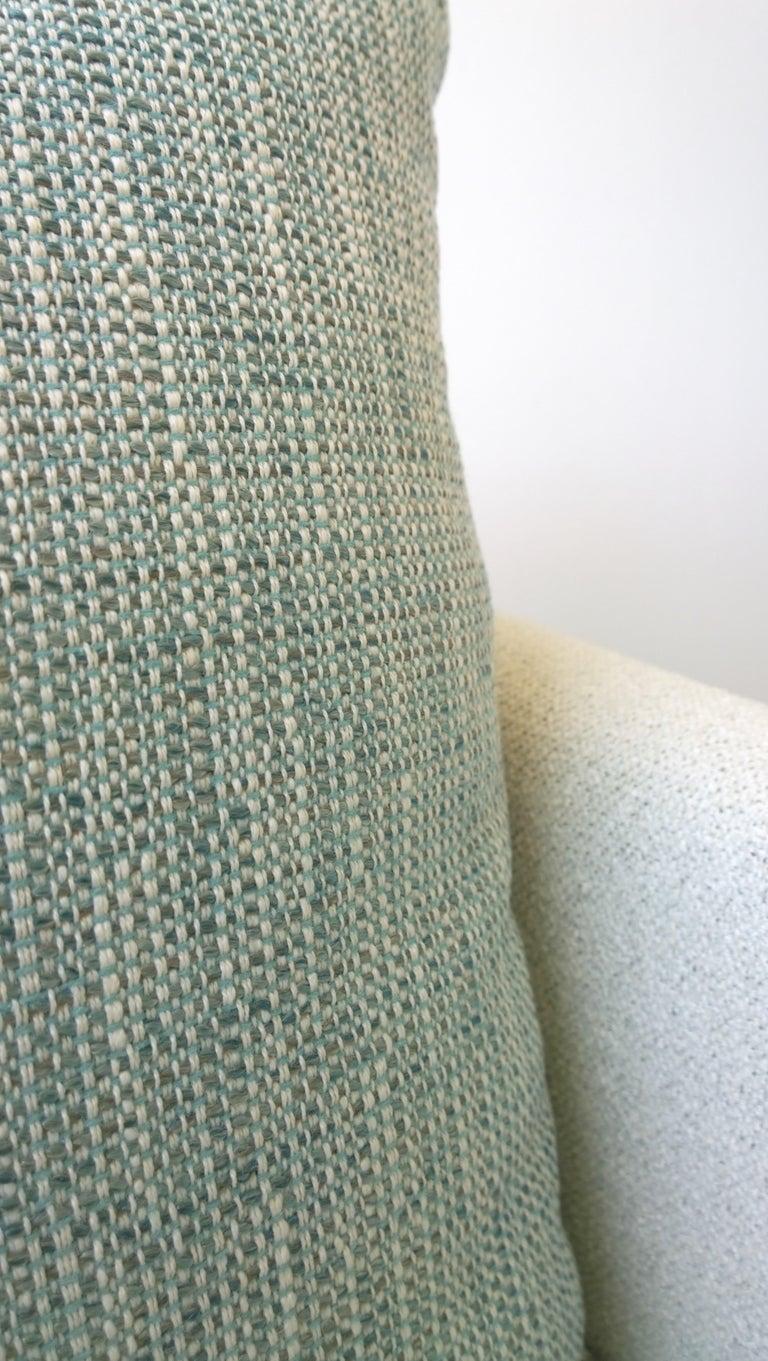Pr B&B Italia Lounge Chairs w/ Chrome Legs & New White Upholstered Slip Covers For Sale 7