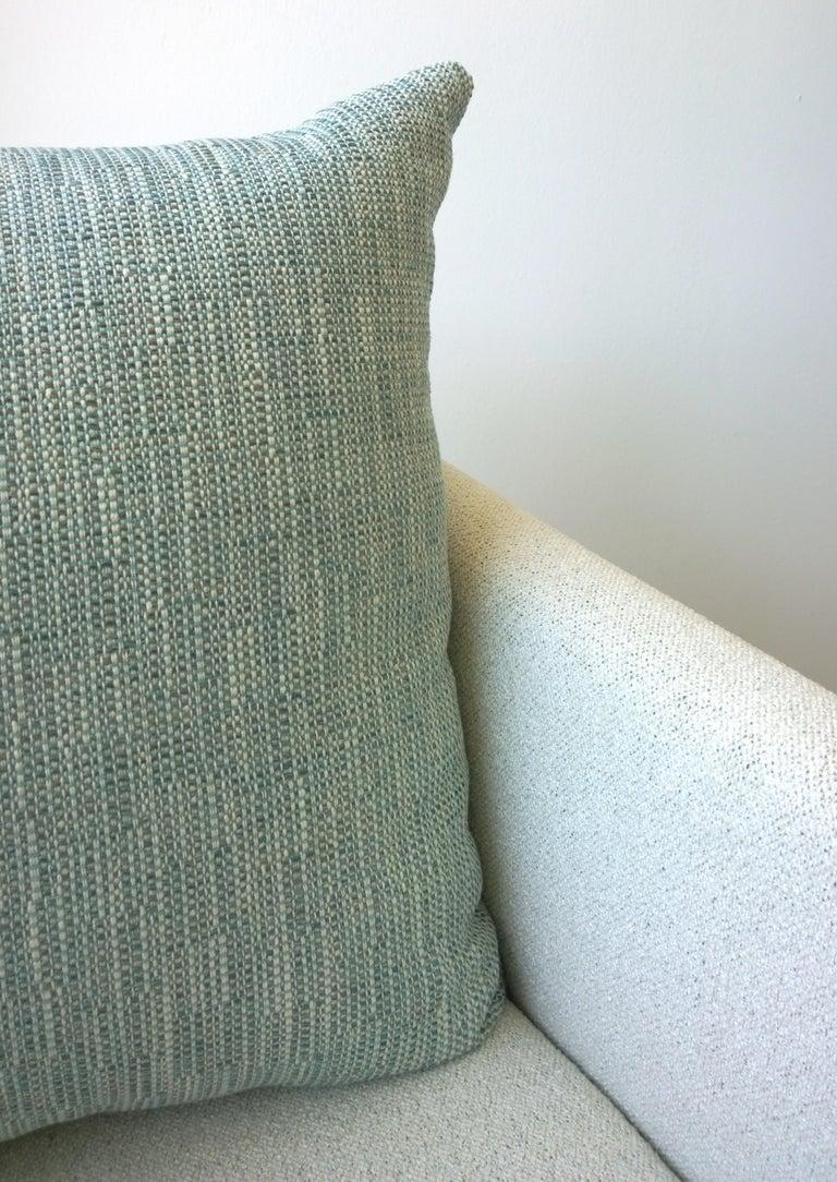 Pr B&B Italia Lounge Chairs w/ Chrome Legs & New White Upholstered Slip Covers For Sale 8