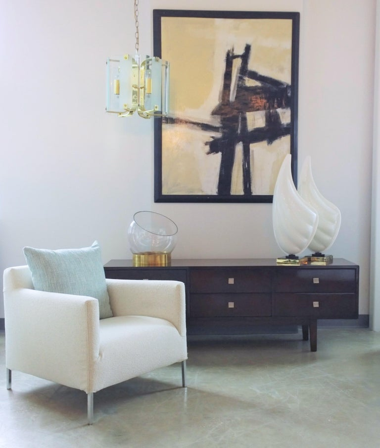 Pr B&B Italia Lounge Chairs w/ Chrome Legs & New White Upholstered Slip Covers For Sale 12