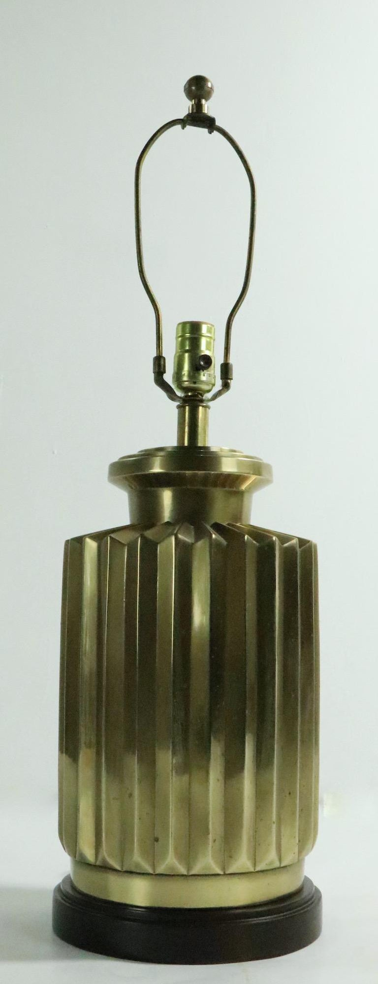 Pair of Brass Lamps by Frederick Cooper In Good Condition For Sale In New York, NY
