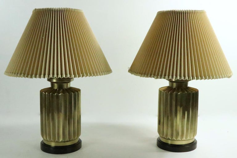 Pair of Brass Lamps by Frederick Cooper For Sale 2