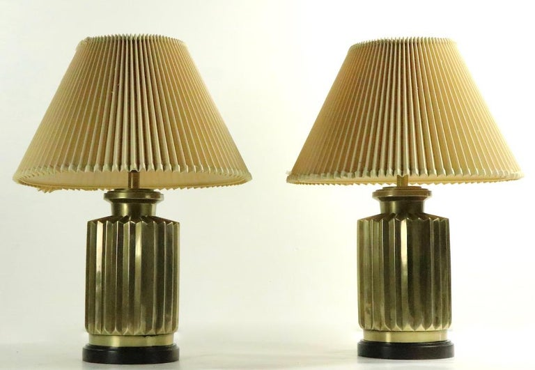 Pair of Brass Lamps by Frederick Cooper For Sale 3
