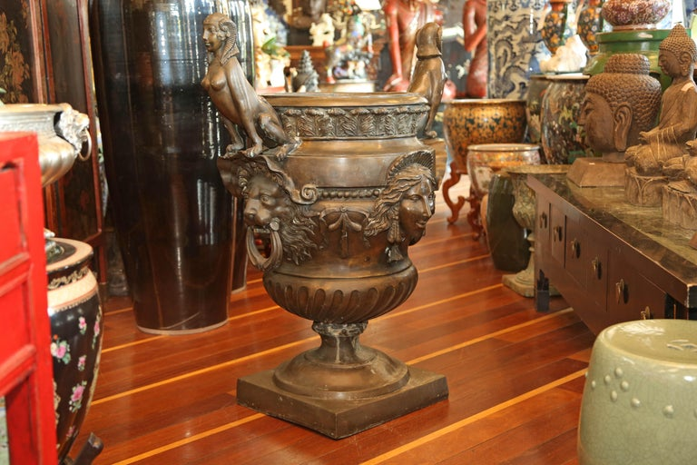 European Pr/Bronze Urns with Mythological Representation from Chinese Collector For Sale