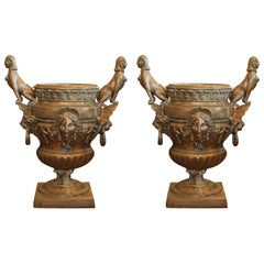 Pr/Bronze Urns with Mythological Representation from Chinese Collector