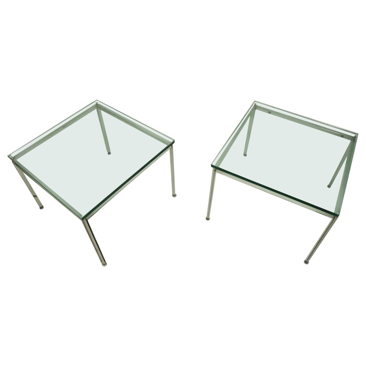 Pr. Chrome and Glass Tables by Atelier International AI