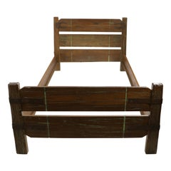 Pair of Cowboy Style Twin Beds by A. Brandt for Ranch Oak