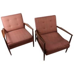 Pr. Danish Lounge Chairs Attributed to Kofod Larson