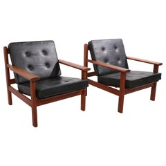 Pair of Danish Modern Lounge Chairs by Poul Volther for Frem Rolje
