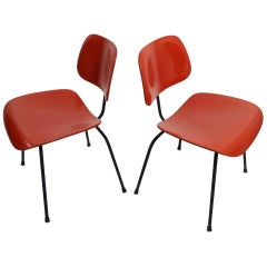 Pair of Eames DCM Herman Miller Dining Chairs